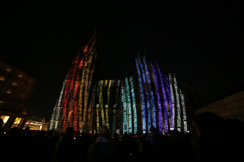 Illumination Kölner Dom – Illumination Cologne cathedral